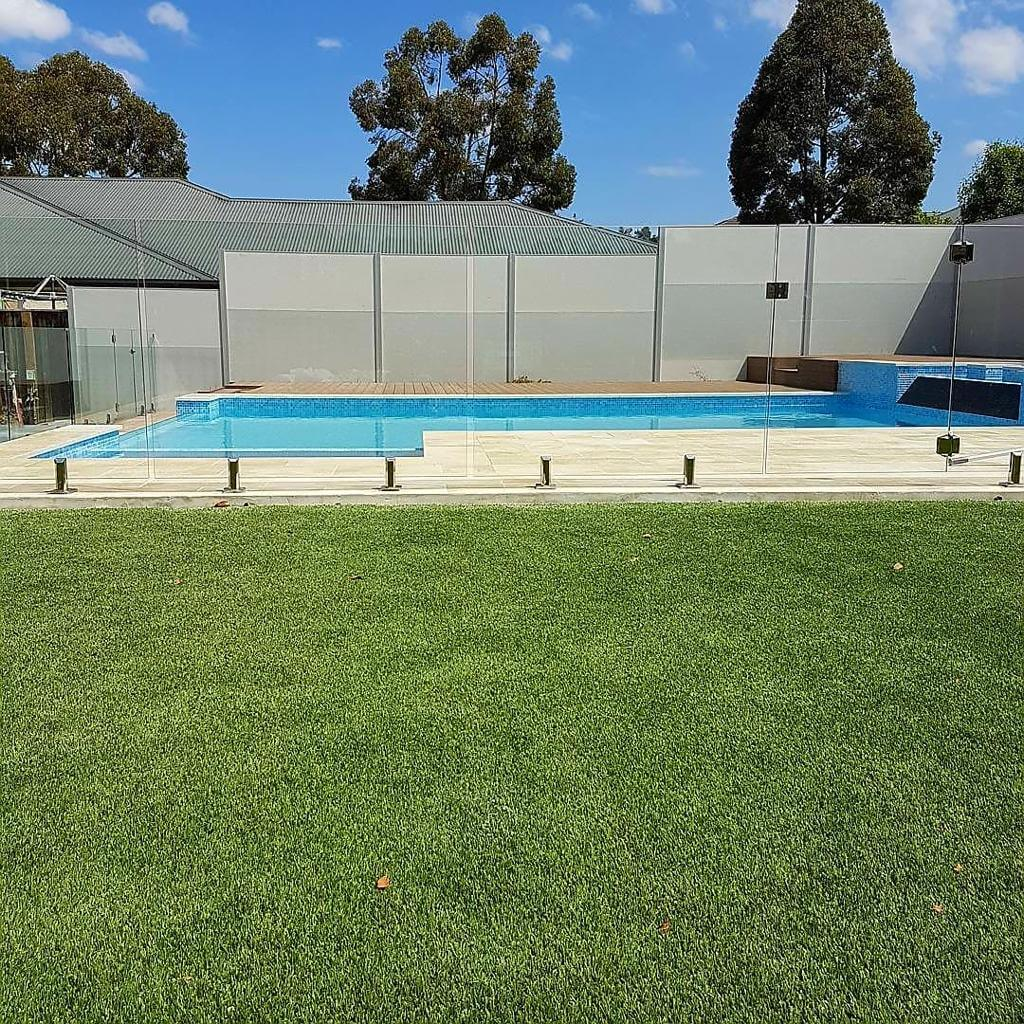 Redbelly Landscapes - Gallery Images Grass Maintenance by the Pool