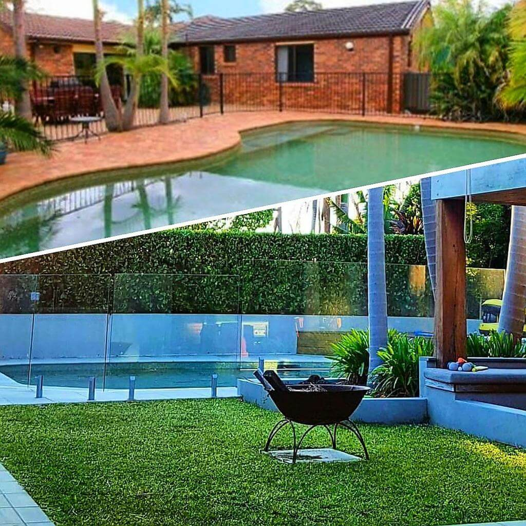 Redbelly Landscapes - Gallery Images Lawn by the Pool