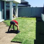 Landscaping Professional Working On The Lawn